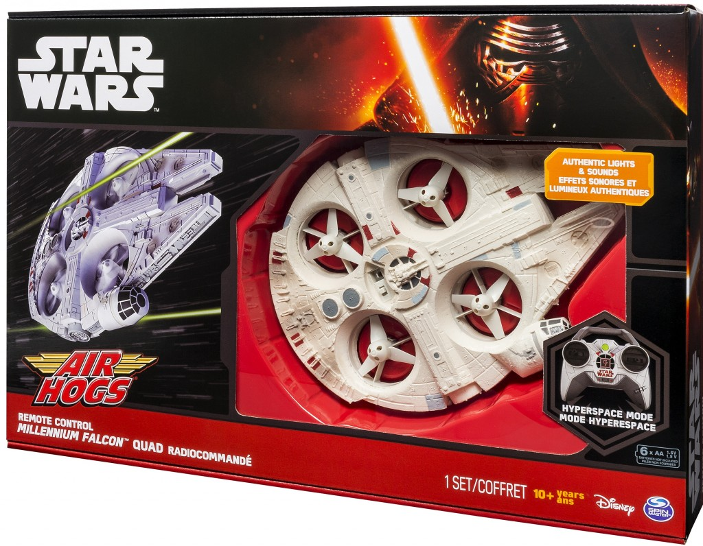 Spin Master - Air Hogs Star Wars Millennium Falcon Quad_Package Angle